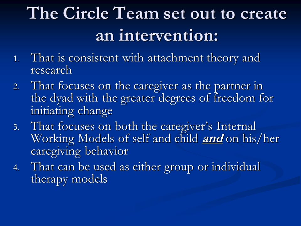 The Circle Team set out to create an intervention: