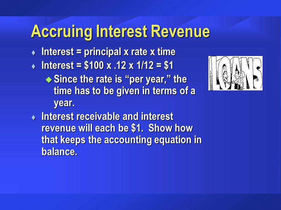 Accruing Interest Revenue