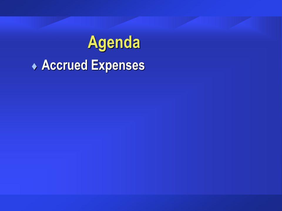 Agenda Accrued Expenses