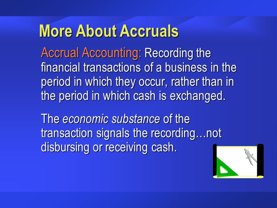 More About Accruals