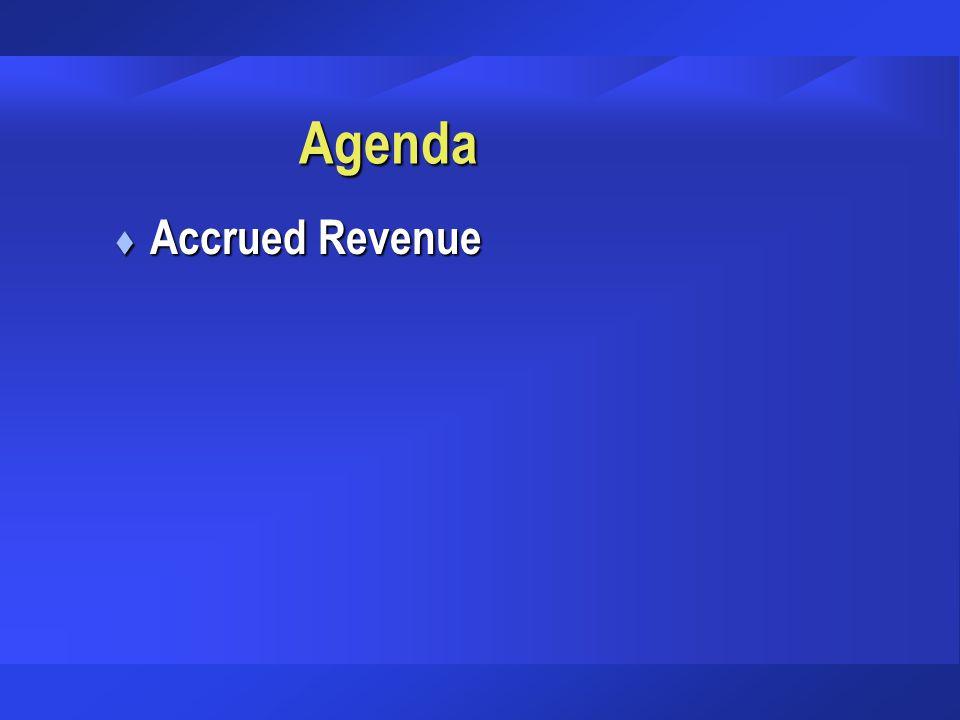 Agenda Accrued Revenue