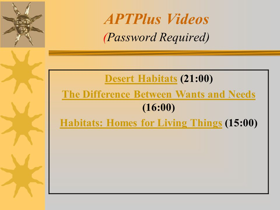 APTPlus Videos (Password Required)