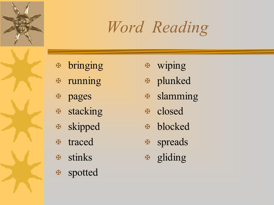 Word Reading bringing running pages stacking skipped traced stinks