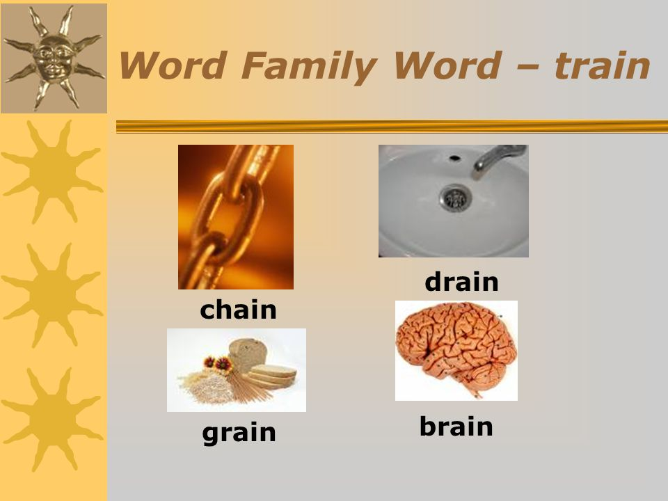 Word Family Word – train