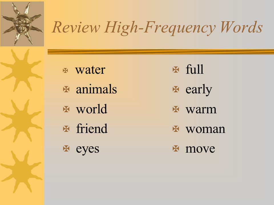 Review High-Frequency Words