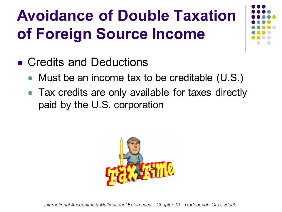 Avoidance of Double Taxation of Foreign Source Income