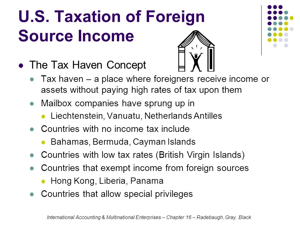 U.S. Taxation of Foreign Source Income