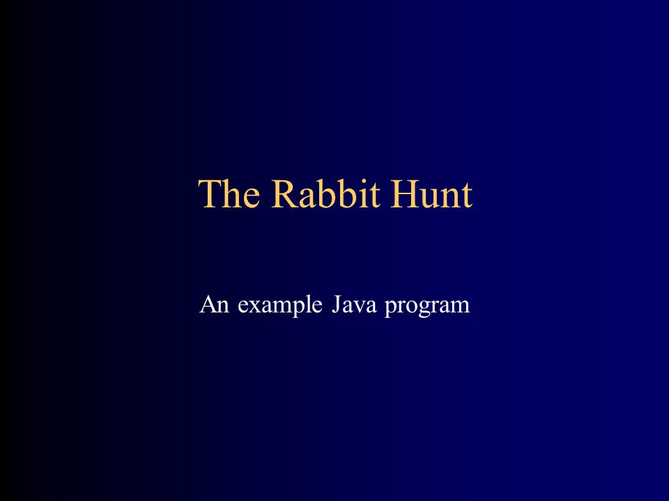 An example Java program