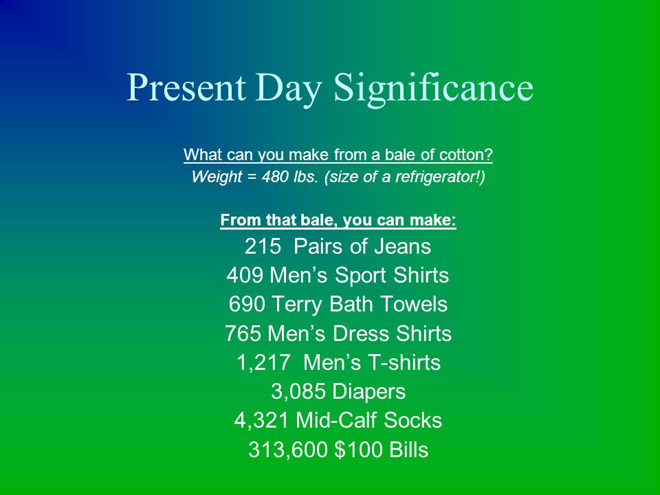 Present Day Significance
