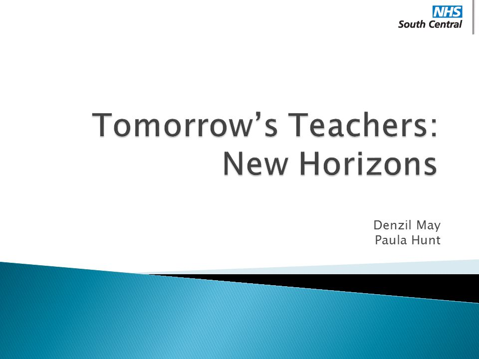 Tomorrow's Teachers: New Horizons