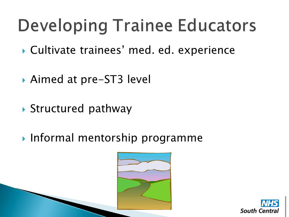 Developing Trainee Educators