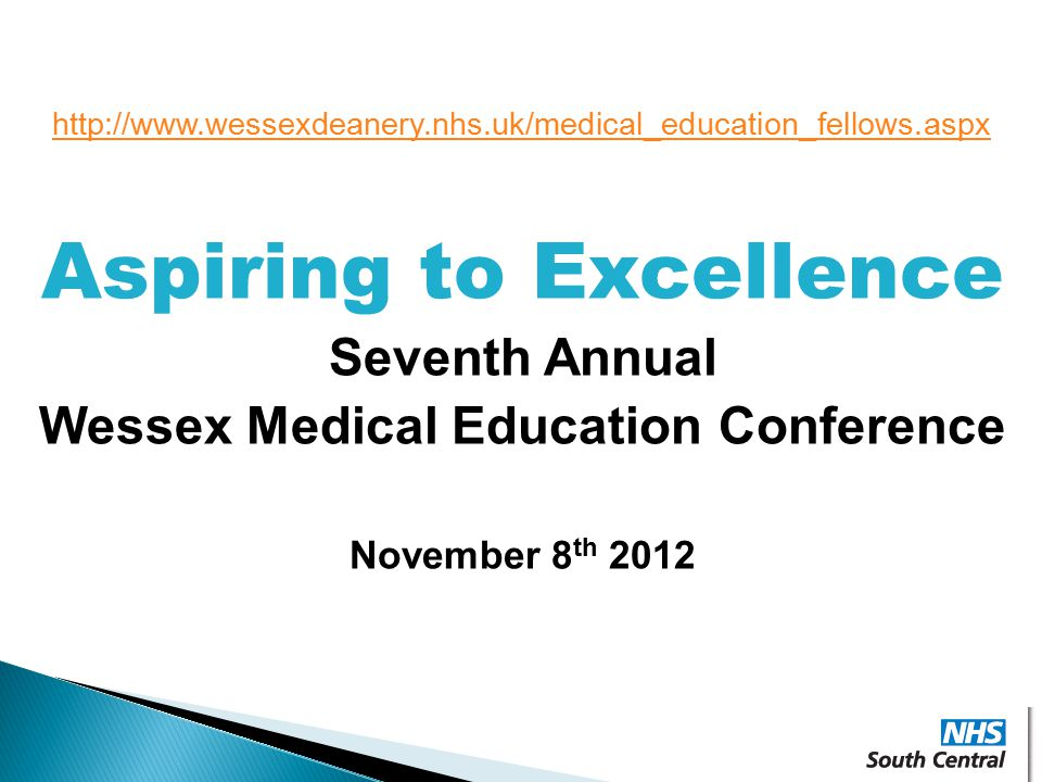 Aspiring to Excellence Wessex Medical Education Conference