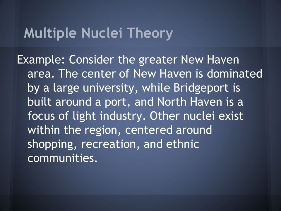 Multiple Nuclei Theory