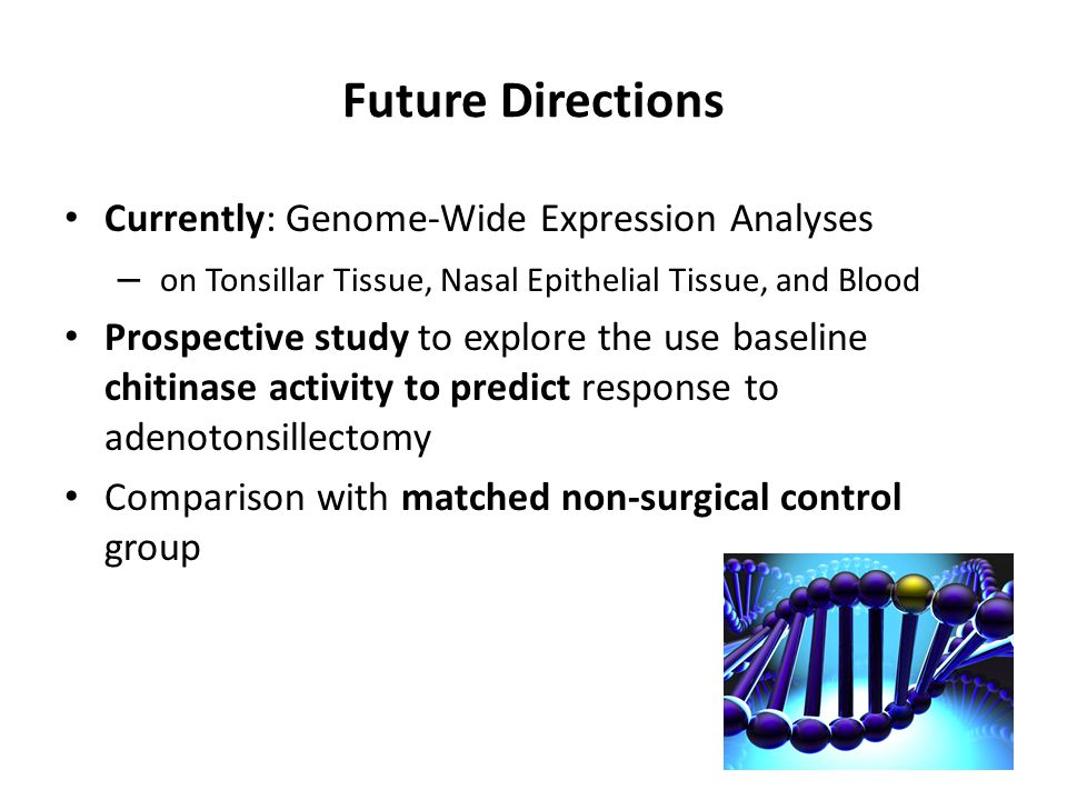 Future Directions Currently: Genome-Wide Expression Analyses