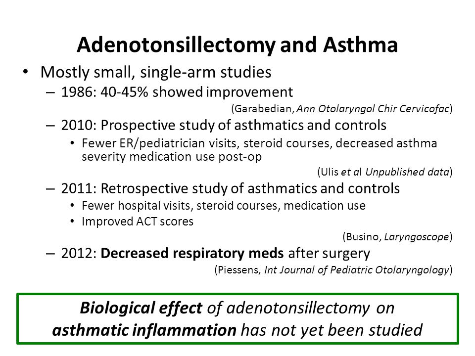 Adenotonsillectomy and Asthma