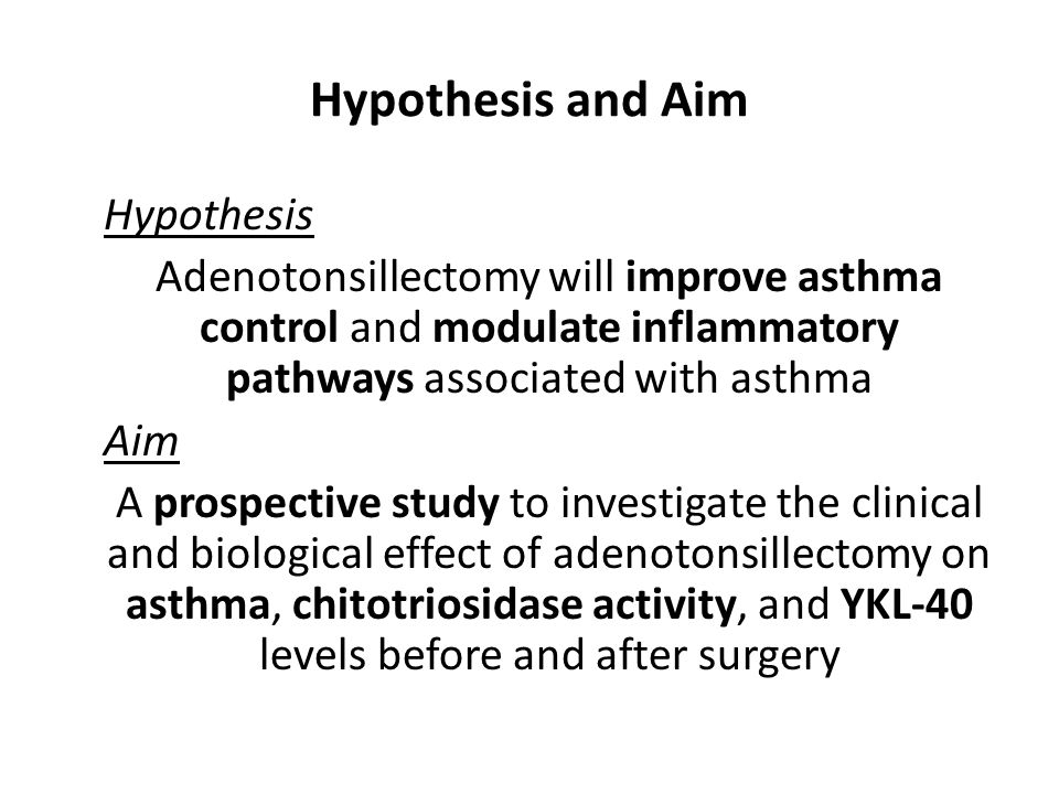 Hypothesis and Aim Hypothesis
