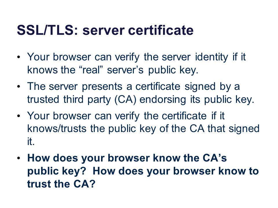 SSL/TLS: server certificate