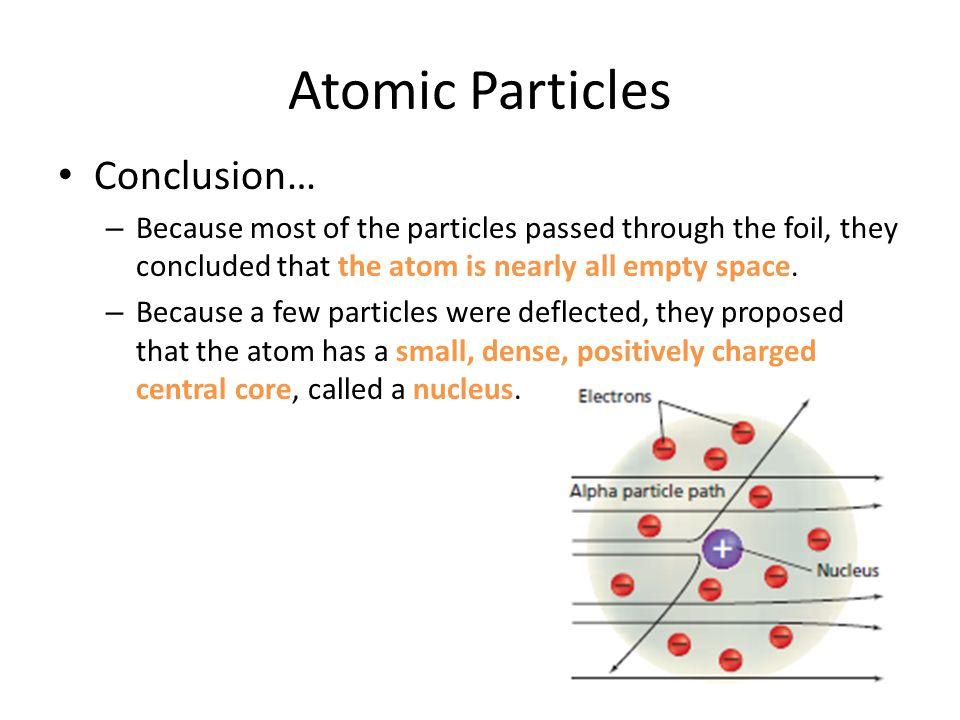 Atomic Particles Conclusion…