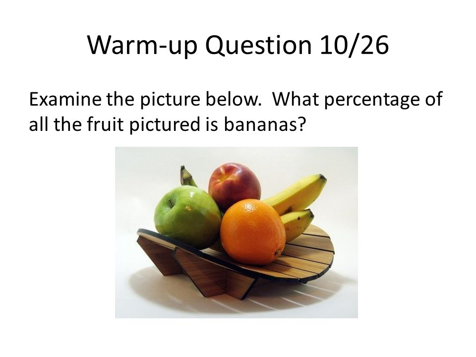 Warm-up Question 10/26 Examine the picture below.