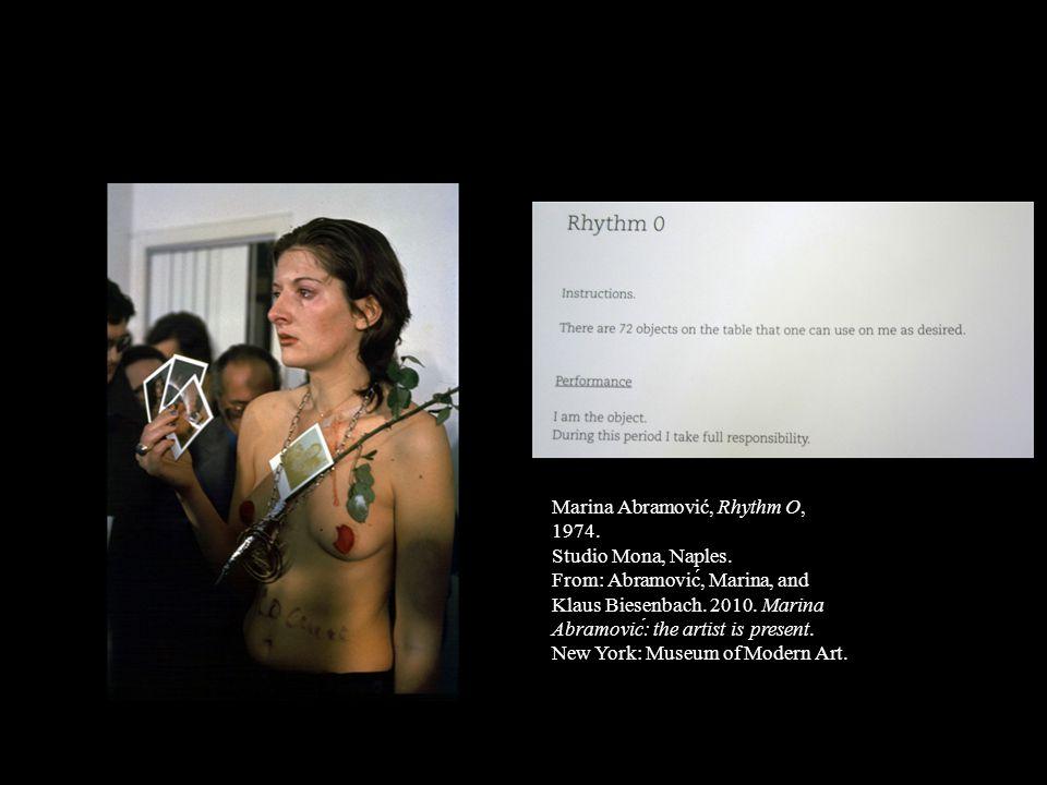Marina Abramović, Rhythm O, 1974.