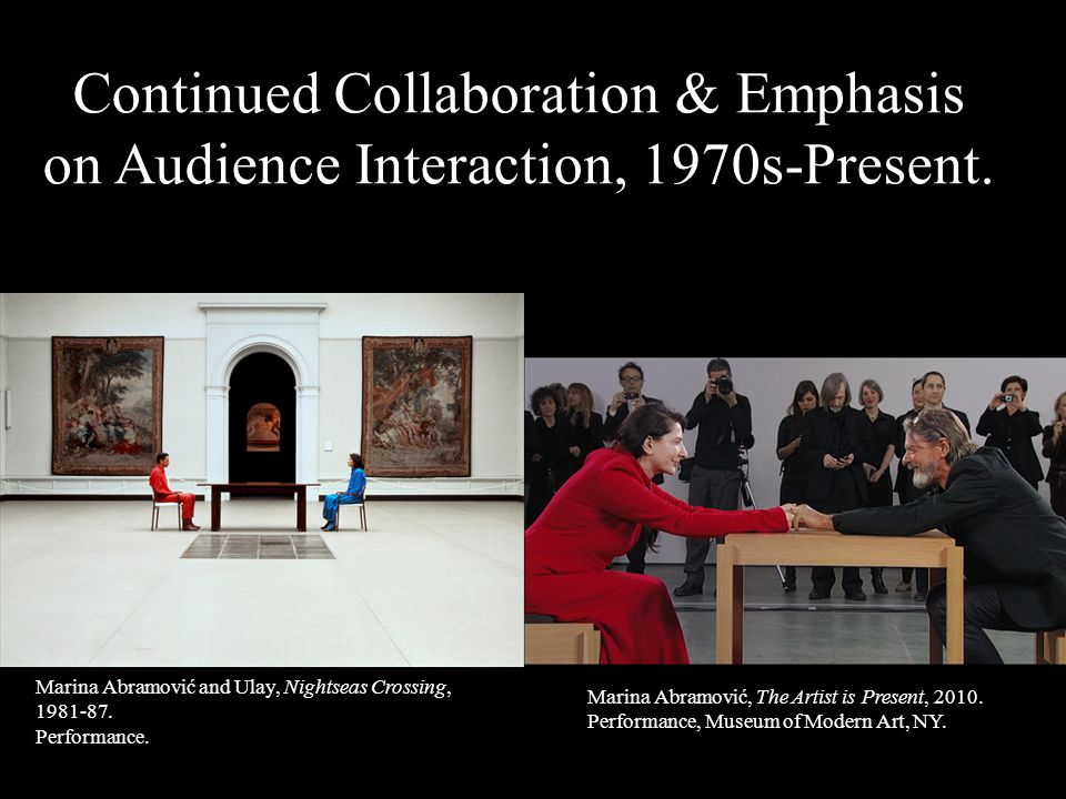 Continued Collaboration & Emphasis on Audience Interaction, 1970s-Present.
