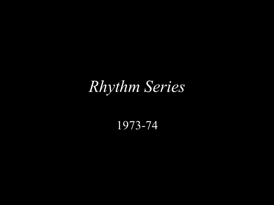 Rhythm Series 1973-74
