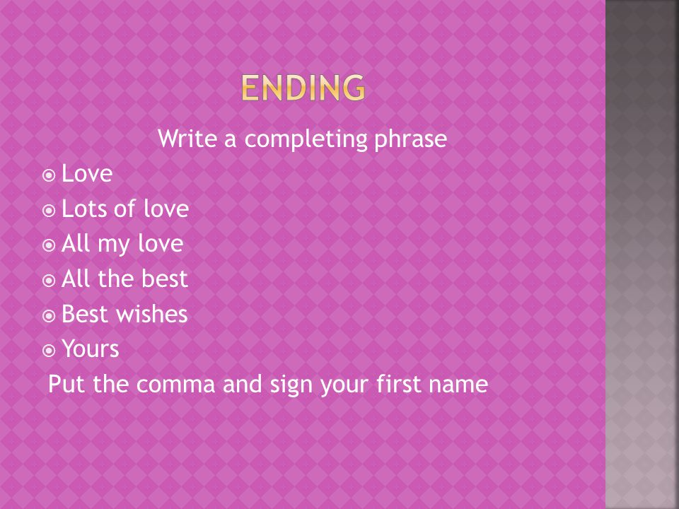 Write a completing phrase