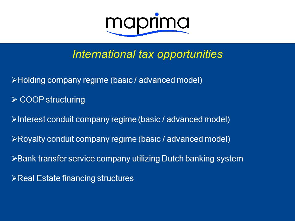 International tax opportunities