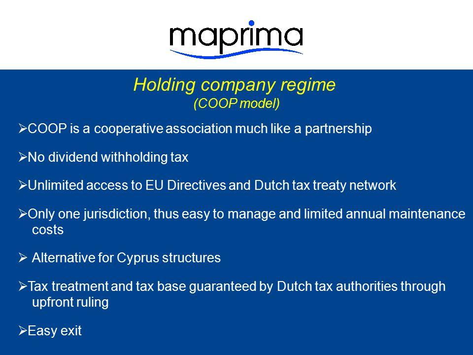 Holding company regime
