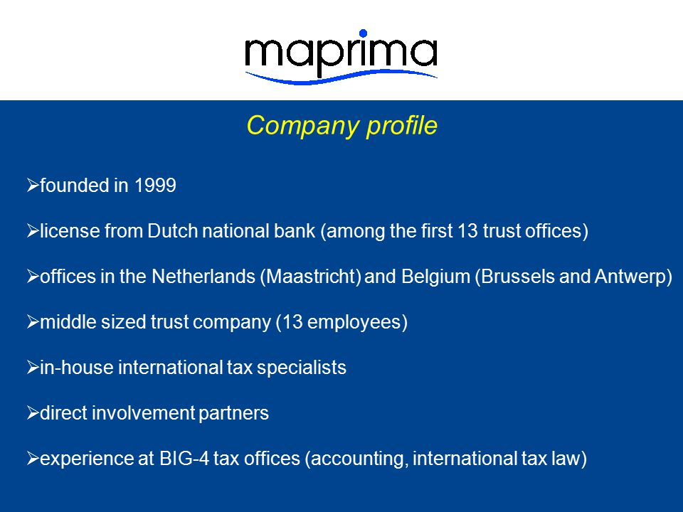 Company profile founded in 1999