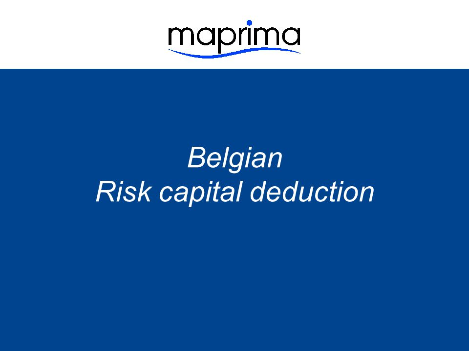 Risk capital deduction