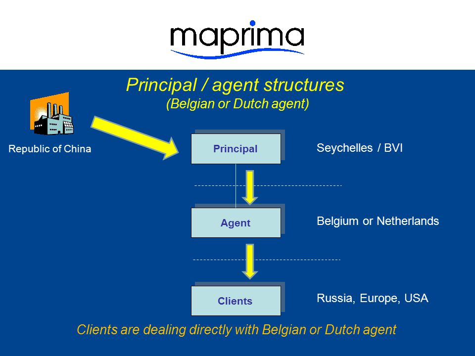 Principal / agent structures