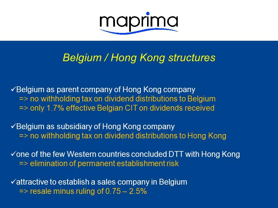 Belgium / Hong Kong structures