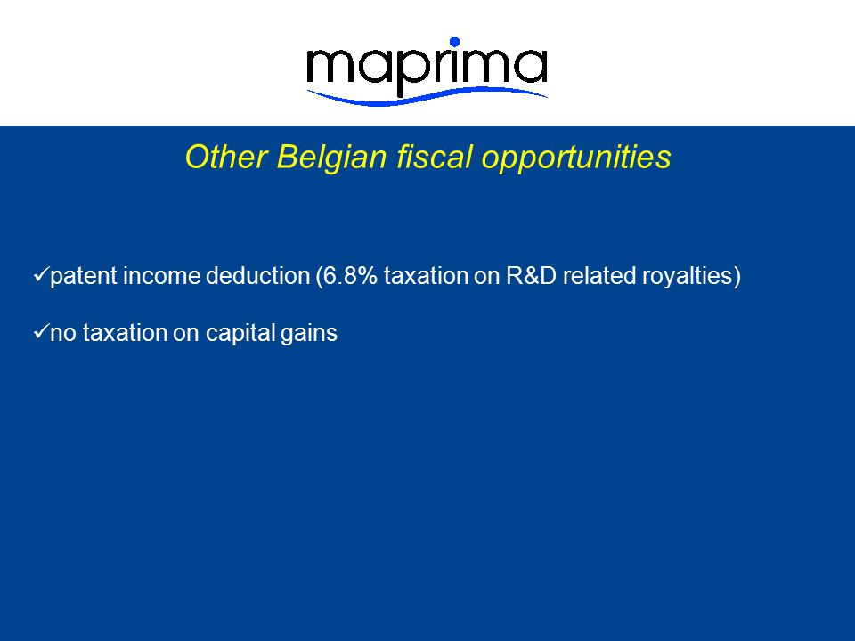 Other Belgian fiscal opportunities
