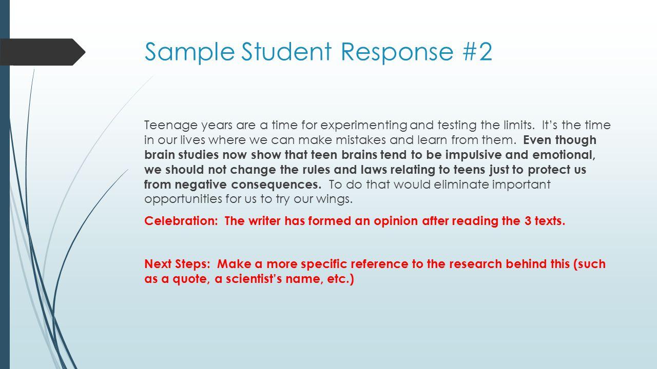 Sample Student Response #2