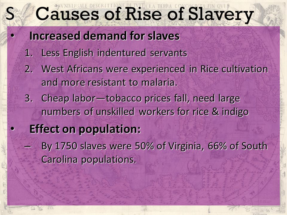 Causes of Rise of Slavery