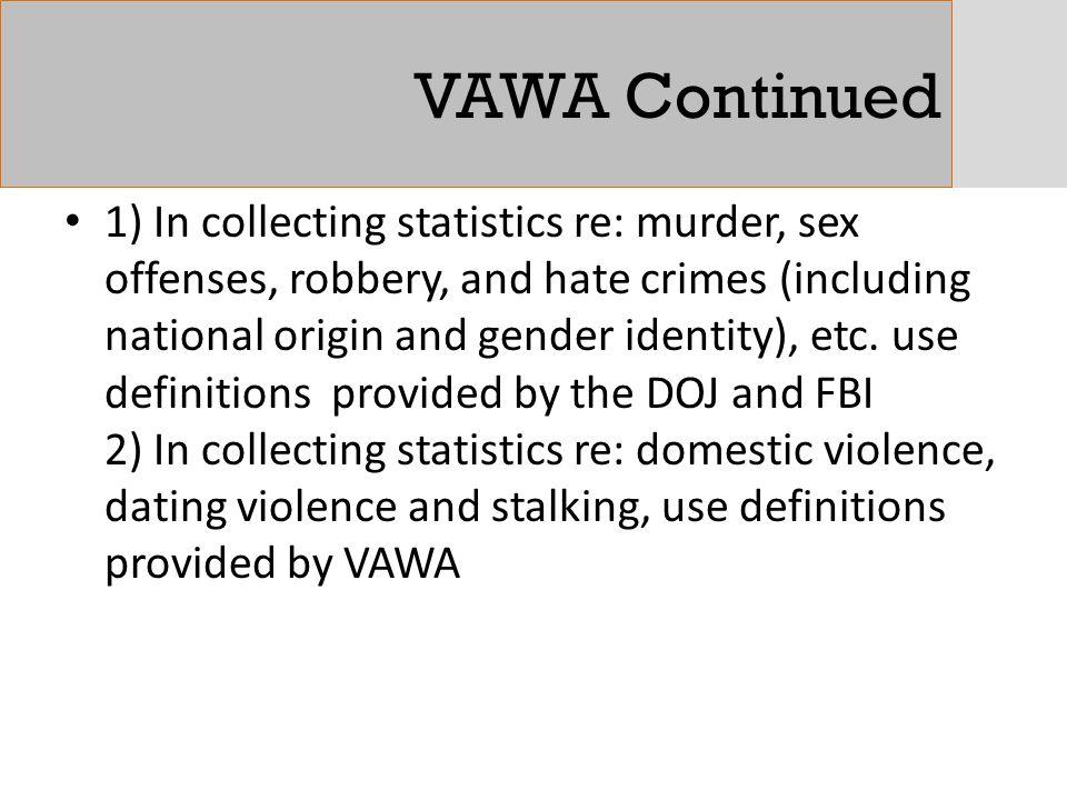 VAWA Continued