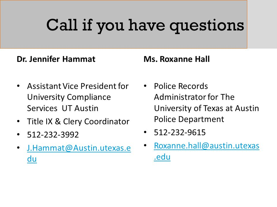 Call if you have questions