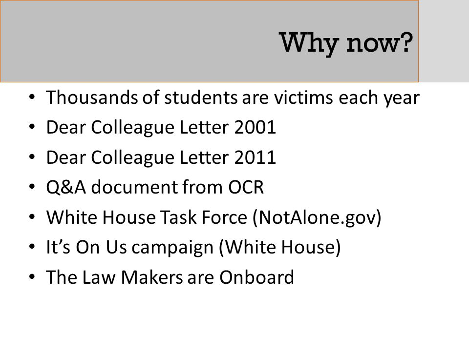 Why now Thousands of students are victims each year