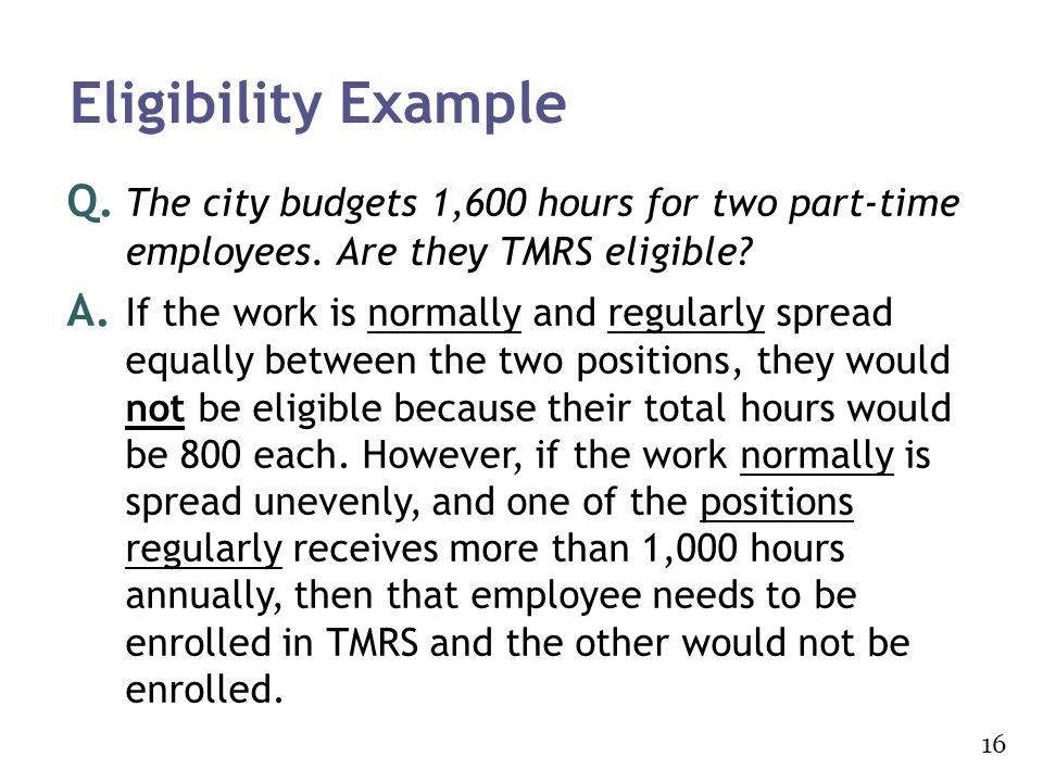 Eligibility Example