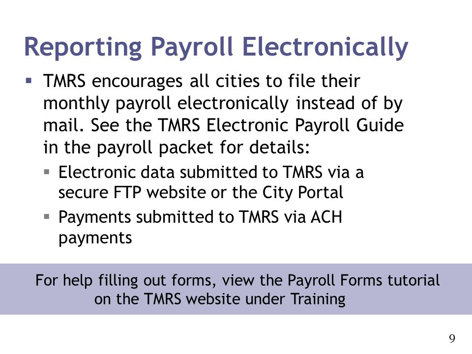 Reporting Payroll Electronically