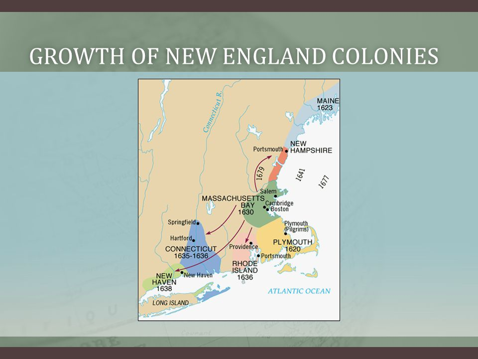 Growth of new england colonies