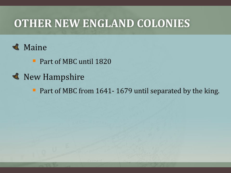 Other new england colonies
