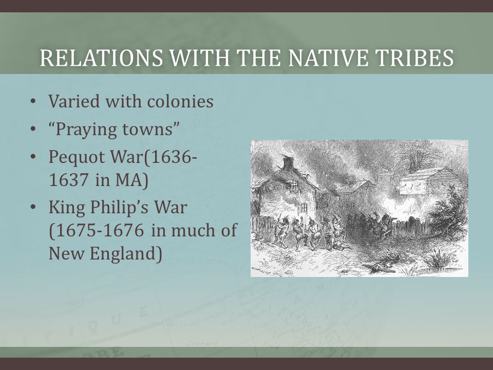 relations with the native tribes