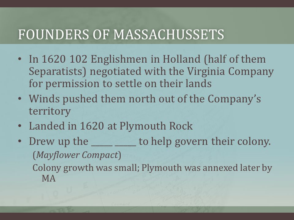 Founders of massachuSsets