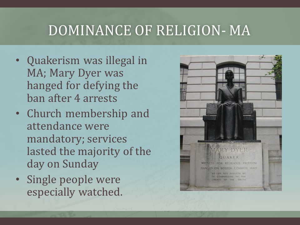 Dominance of Religion- MA