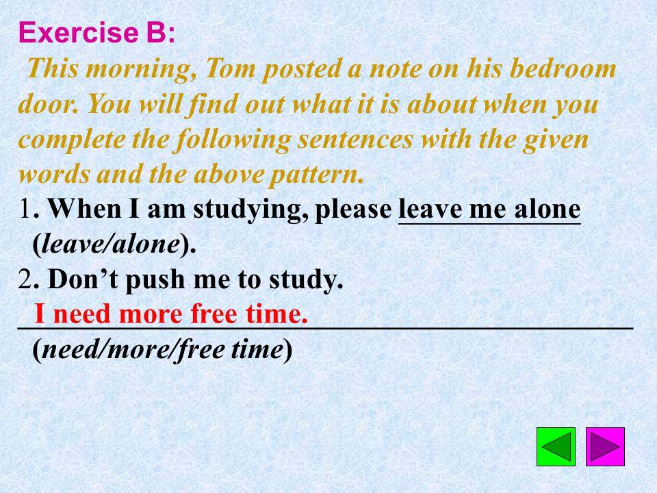 Exercise B: