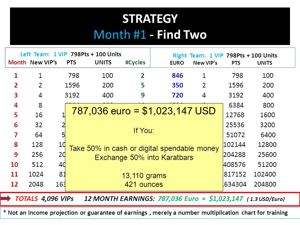 STRATEGY Month #1 - Find Two