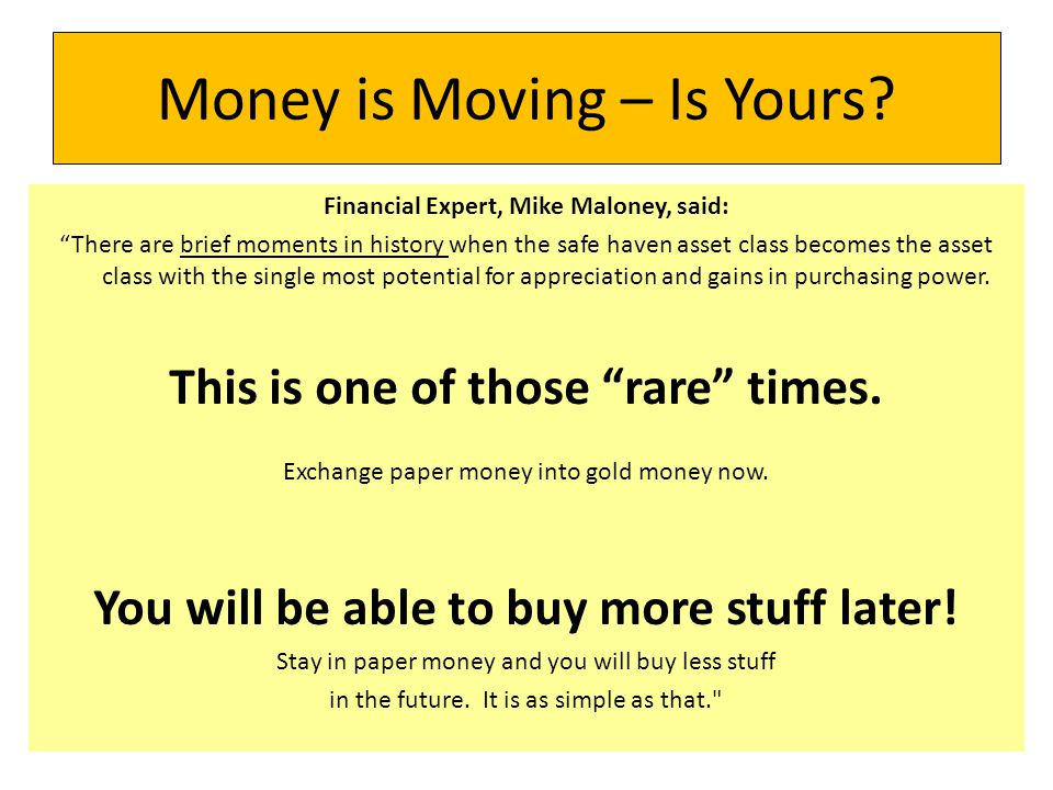 Money is Moving – Is Yours