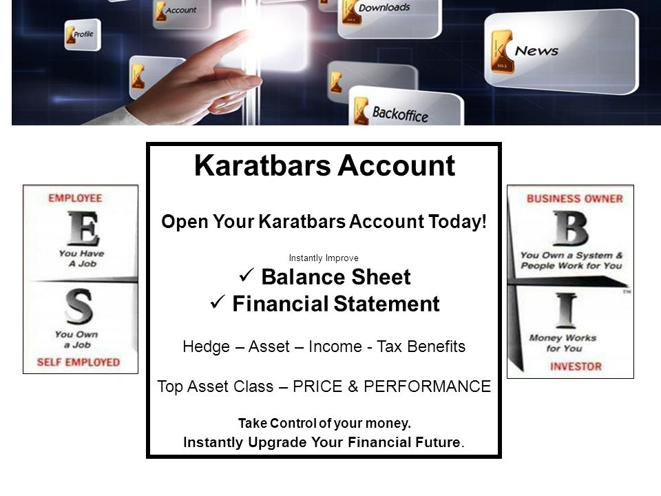 Open Your Karatbars Account Today! Take Control of your money.